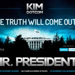 Kim Dotcom protesta contra el gobierno de Estados Unidos