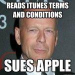 [Actualizado] Bruce Willis vs Apple: Otra batalla que se definiría en la corte