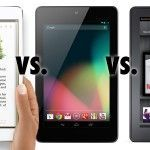 iPad Mini vs. Nexus 7 vs. Kindle Fire