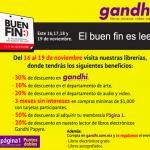 Checa las promociones de Gandhi para El Buen Fin