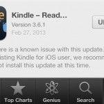 Kindle para iOS se actualiza 2 veces en el mismo día por problemas con la app