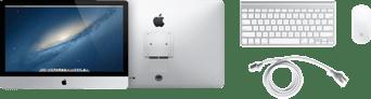 Lo que incluye la caja de la iMac