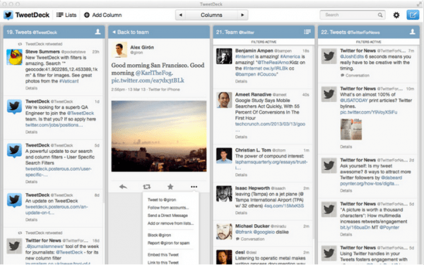 5 alternativas a TweetDeck