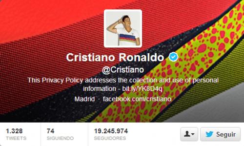 Cristiano en Twitter