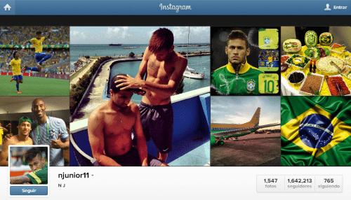 Neymar en Instagram