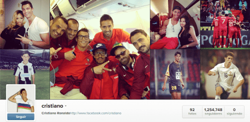 Cristiano en Instagram