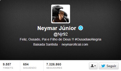 Neymar en Twitter