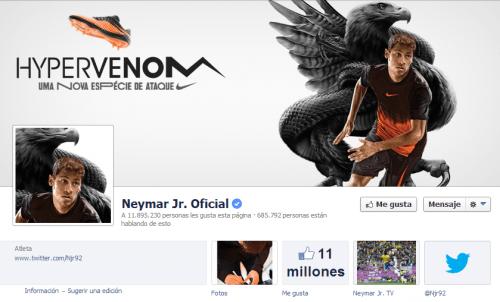 Neymar en Facebook