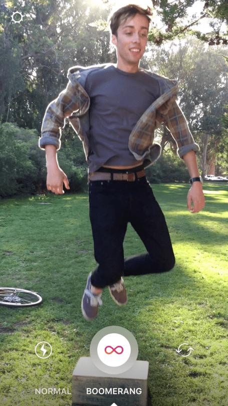 Boomerang en Instagram Stories