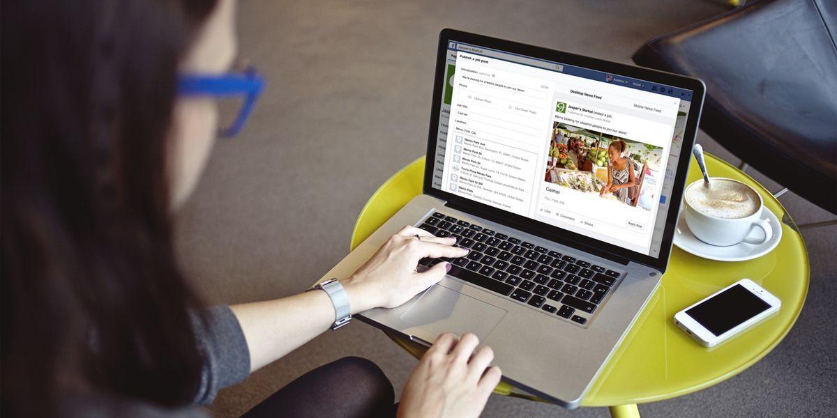 encontrar trabajo en Facebook. vivir viajando