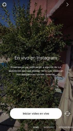como hacer directos en Instagram