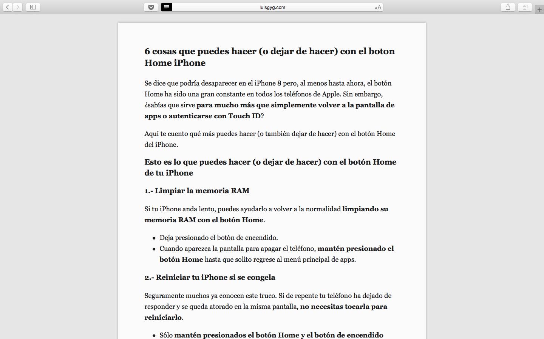 Aprende a configurar el modo Lectura Safari en tu Mac