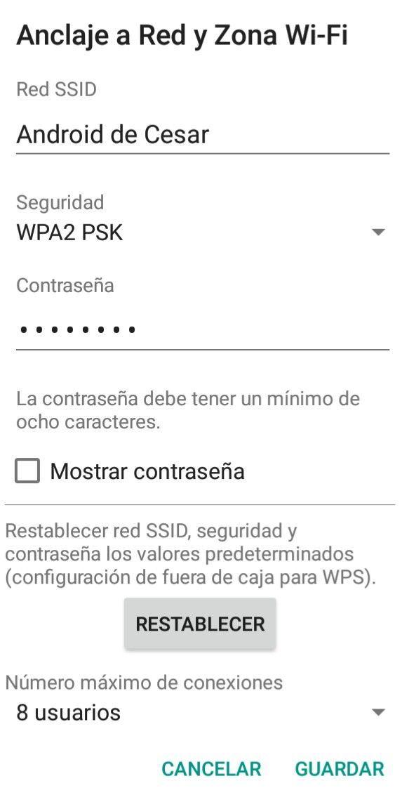 como compartir internet en Android