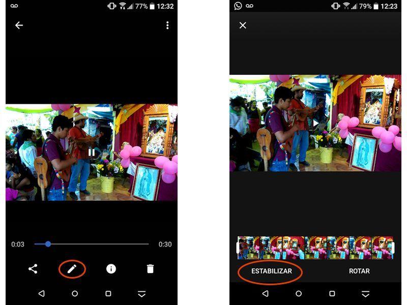 estabilizar videos en android