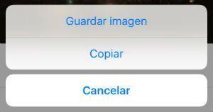 Descargar GIF de Facebook iPhone