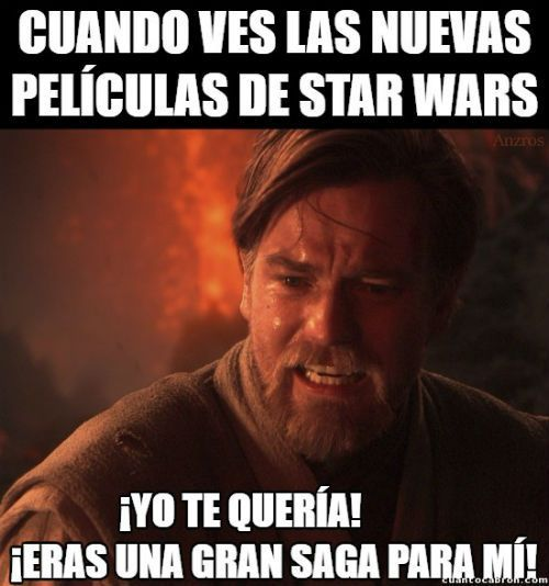 Resultado de imagen para meme star wars español
