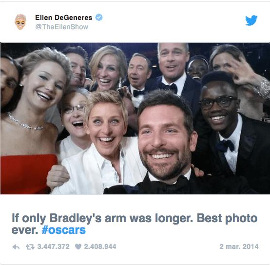 Resultado de imagen de selfie mas retwitteado
