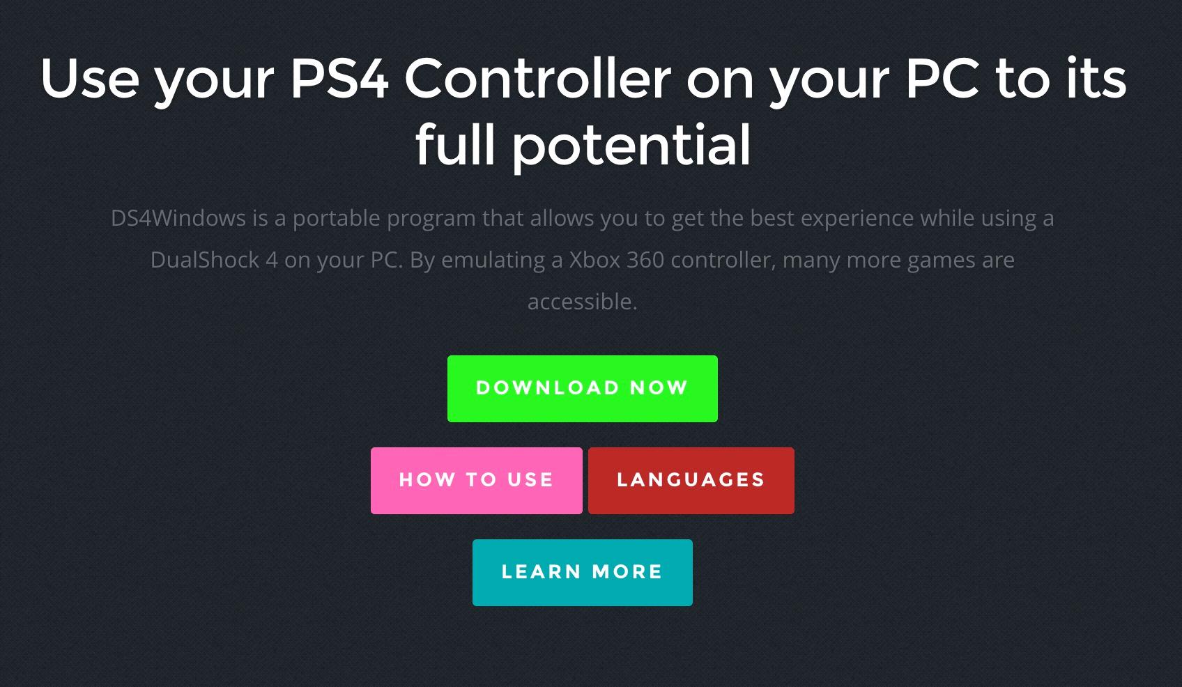 Conectar control de PS4 en PC