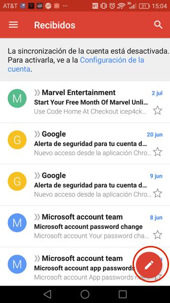 Cómo adjuntar archivos en Gmail Android