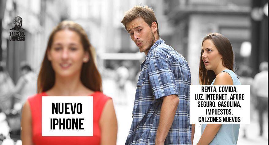 memes del iPhone X