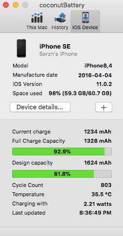 checar la batería en el iphone