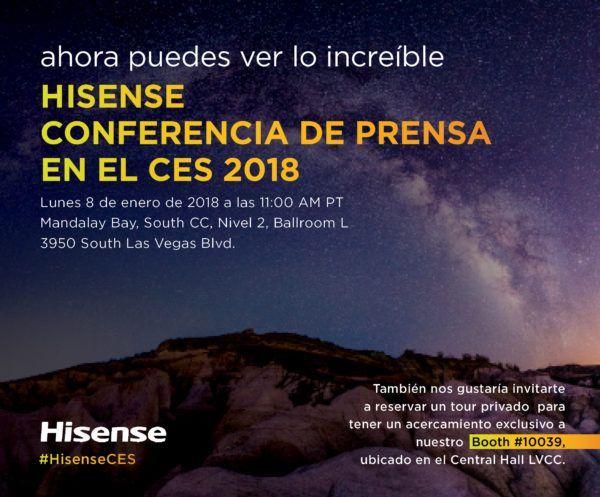Hisense para el CES 2018