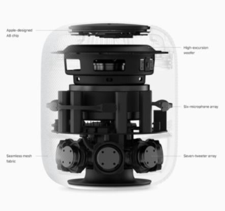 calidad de audio del homepod de apple