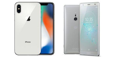iPhone X con Xperia XZ2